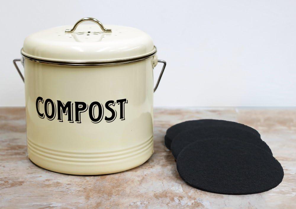 Amazon.com: Cubo de compostaje con 7 filtros de carbón de ...