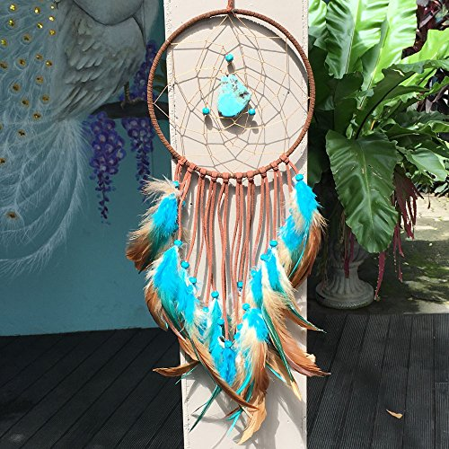 Dream Catcher ~ Handmade Traditional Boho style Feather Wall Hanging Home decoration gift 5.9 Diameter 18 Long