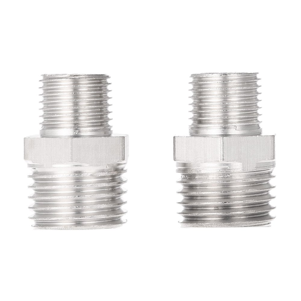 2pcs Airbrush Air Hose Adaptor G1//8 BSP Male /& G1//4 BSP Male Air Brush Connector for Mini Air Compressor Air Hose,Baugger