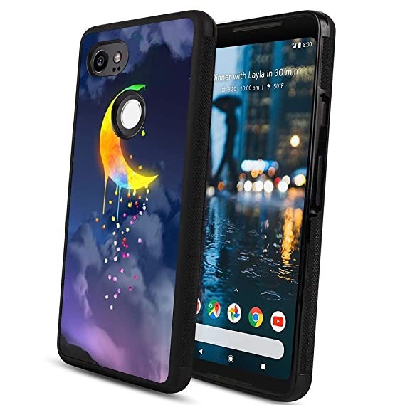 Amazon com: Pingge Google Pixel 2 XL Case Rainbow Moon