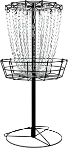 MVP Black Hole Practice 24-Chain Portable Disc Golf Basket Target