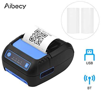 Aibecy Impresora portátil de recibos térmicos de 58 mm Impresora ...