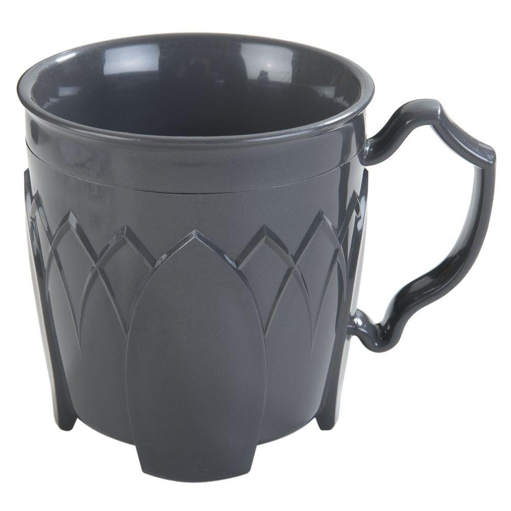 DINEX Fenwick Insulated Ware 8 Oz Graphite Grey Plastic Mug - 3 1/2''Dia x 3 1/2''H