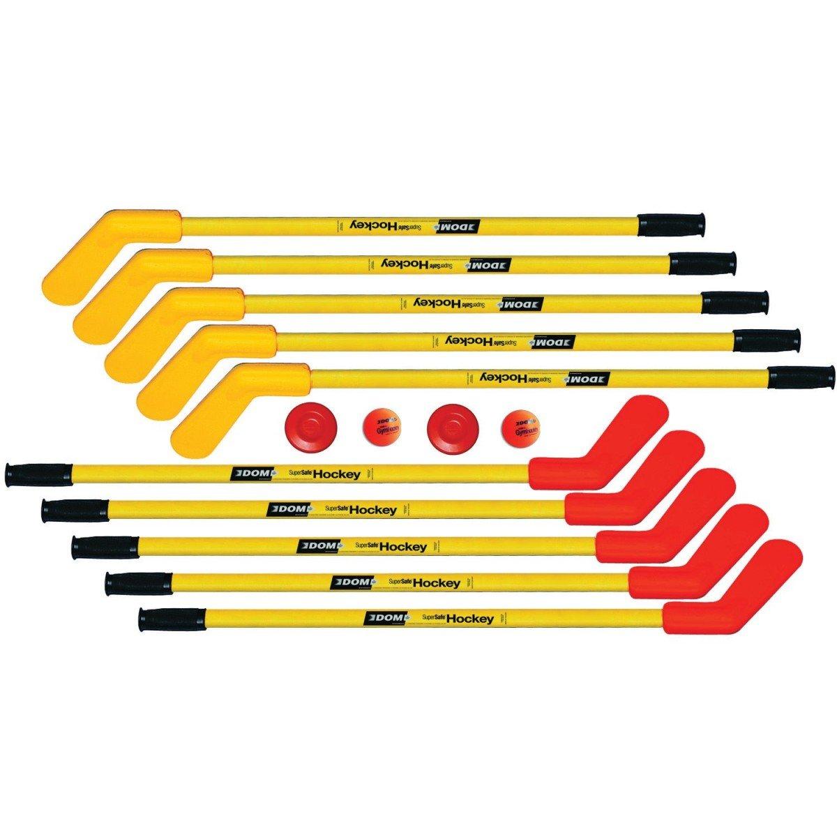 DOM SS360A 36'' Super-Safe Hockey Set, Includes 10 Sticks, 2 Super Safe Pucks and 2 Balls, Up to Age 12 (Pack of 36)