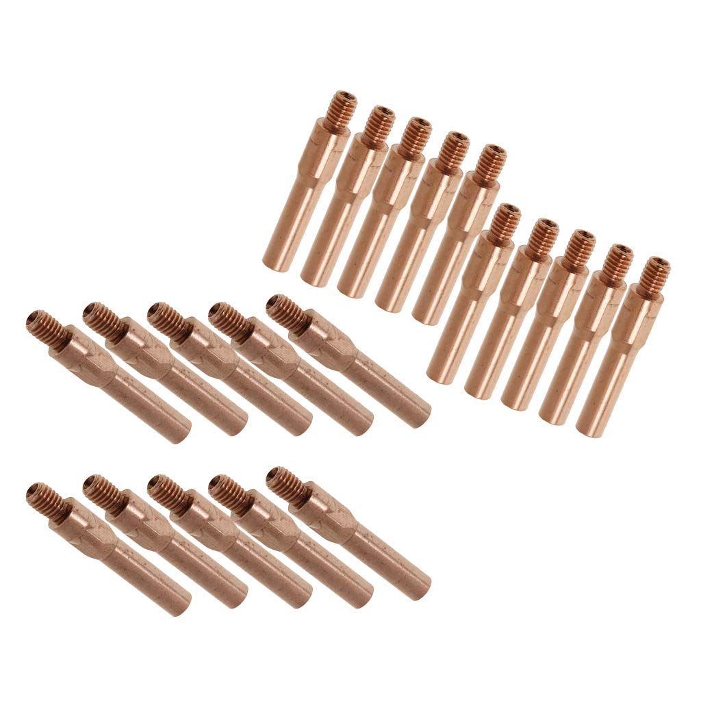 10pcs 1.2mm+10pcs 1.4mm MAG//MIG 45mm Gas Shielded Welder Contact Thread Nozzle Tip 380A Carbon Dioxide Welder Welding Accessory