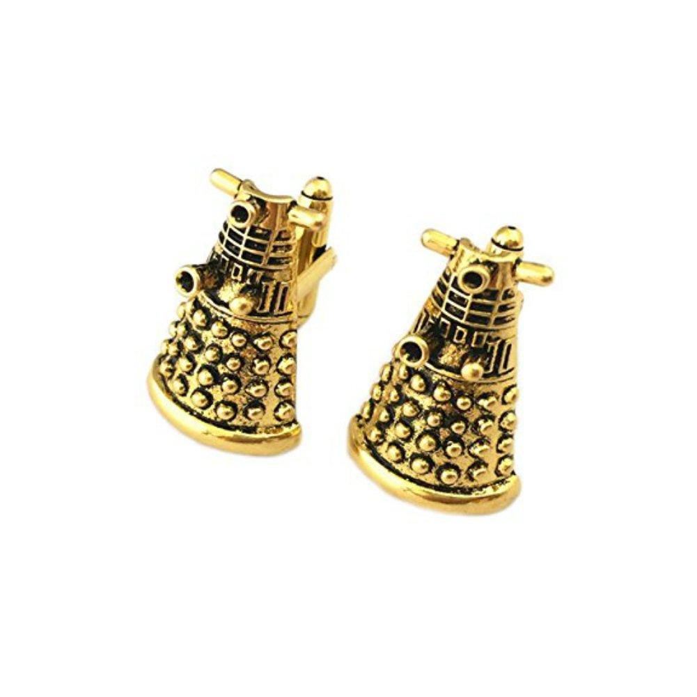 Doctor Who Dalek Bronze 3D Metal Enamel Cufflinks