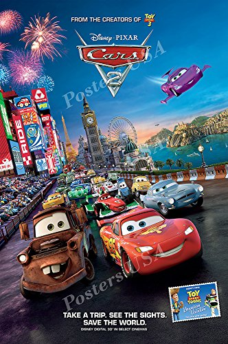 Posters USA Disney Cars 2 Movie Poster GLOSSY FINISH - FIL005 (24