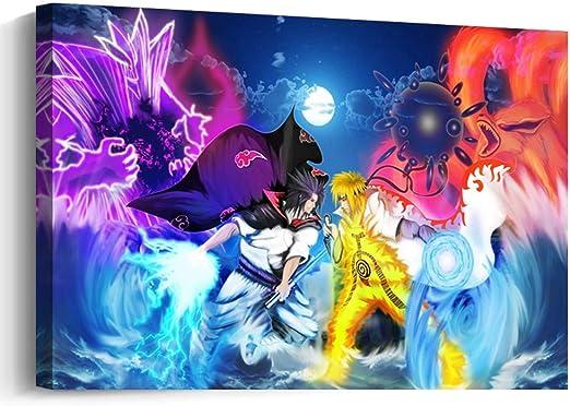 Amazon.com: Pangoo Art - Póster enmarcado de Naruto de anime ...