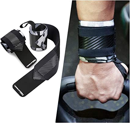 Workout Wrist Wraps Weight Lifting Powerlifting Wrist Straps Strength Training Wrist Brace with Thumb Loop for Men/&Women 1 Pair