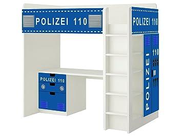 Ikea kinderzimmer stuva  Polizei Aufkleber - SH10 - passend für die Kinderzimmer Hochbett ...
