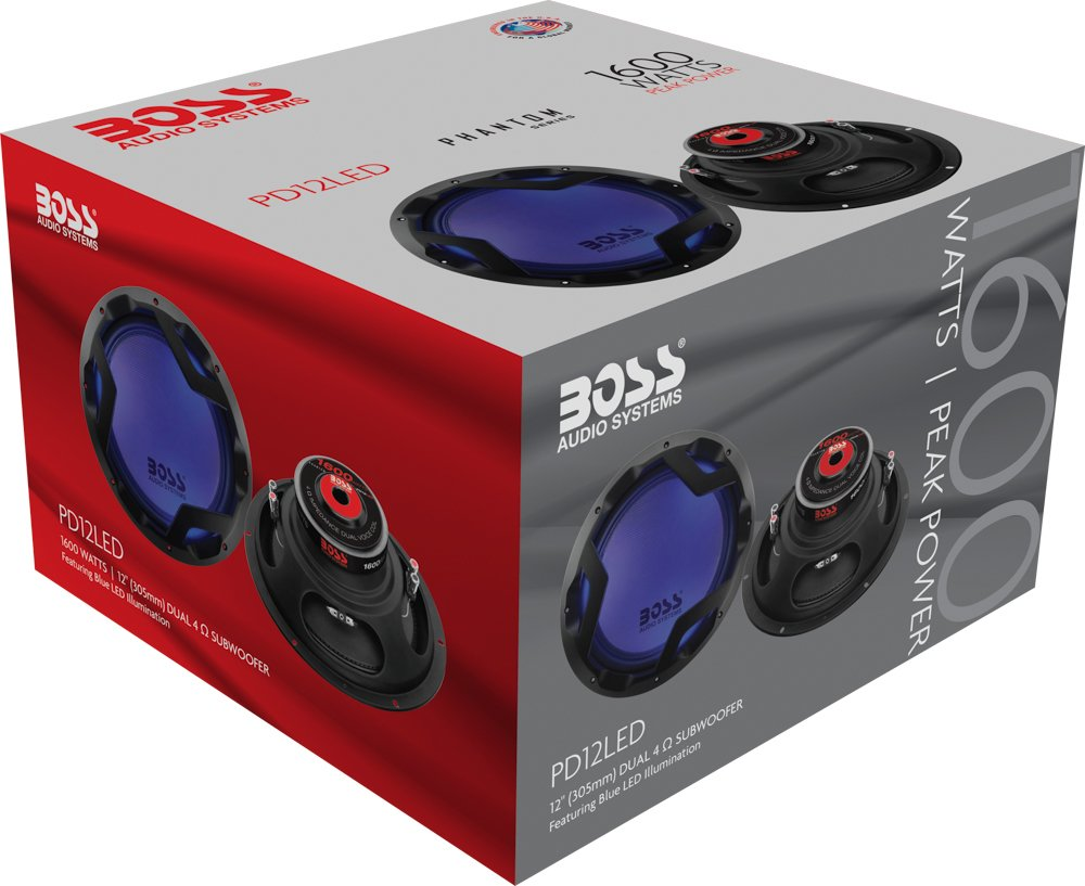 BOSS Audio PD12LED 1600 Watt, 12 Inch, Dual 4 Ohm Voice Coil Car Subwoofer by BOSS Audio Systems (Image #4)