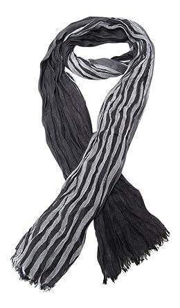 Générique Chèche, foulard, écharpe pour homme ou mixte, noir et gris, 180 5f544faf71e