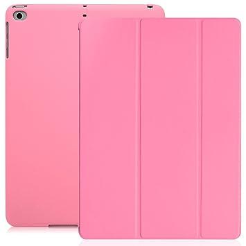 KHOMO Funda iPad 9.7 2018 y 2017 (5ta y 6ta Gen.) Carcasa Rosada Ultra Delgada y Ligera con Smart Cover Apple iPad 9,7 2017 y 2018 - Rosa