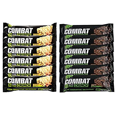 Muscle Pharm Combat Crunch Protein Bar, 6 Cinnamon Twist and 6 Chocolate Cake