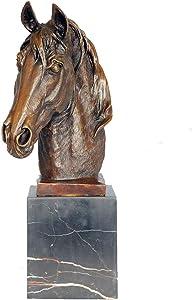 Toperkin Bronze Statues Animal Bust Horse Head Sculpture Home Decor Garden Statue TPAL-208