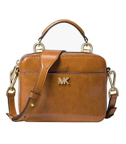 cb9f8e8ce697 Michael Kors Mott Mini Small Calf Leather Crossbody Purse (Acorn ...