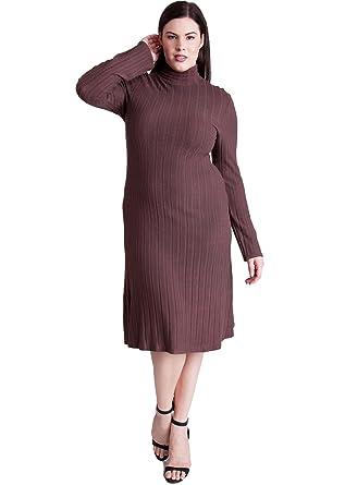 Ladies Plus Size Long Sleeve Turtleneck Sweater Dress, Available ...