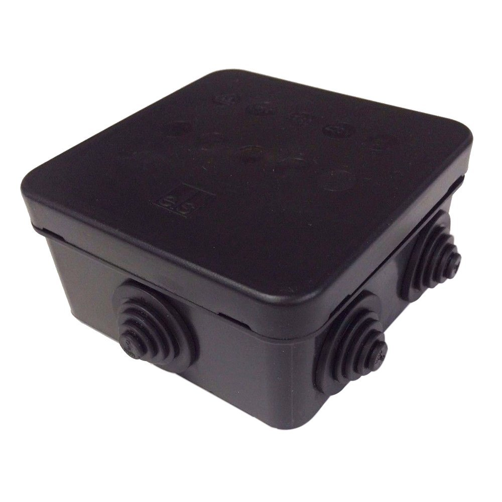 Junction Box IP55 Terminal Box in Black HP80 External CCTV Electrical ELS Spelsberg