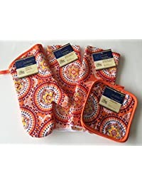Want (5 Piece) Home Collection Kitchen Linen Set - Summer 2016 Trendy Linen Set. Two Towel, Two Pot Holders, & One... deliver
