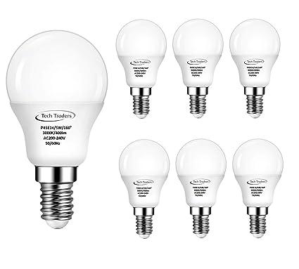 Bombilla LED, de Tech Traders, P45, E14, 5 W, luz blanca