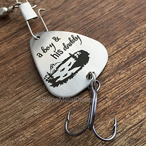 Amazon.com: A Boy and His Daddy Fishing Lure Father Son Gift A boy ...