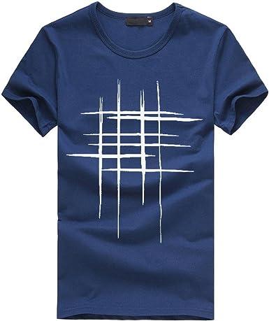OHQ Camiseta Estampada para Hombre Gris Rojo Azul Armada Blanco Azul Negro Verde Camisa Estampada De Hombre Blusa De AlgodóN De Manga Corta Humor Casual Pareja Deportivo: Amazon.es: Ropa y accesorios