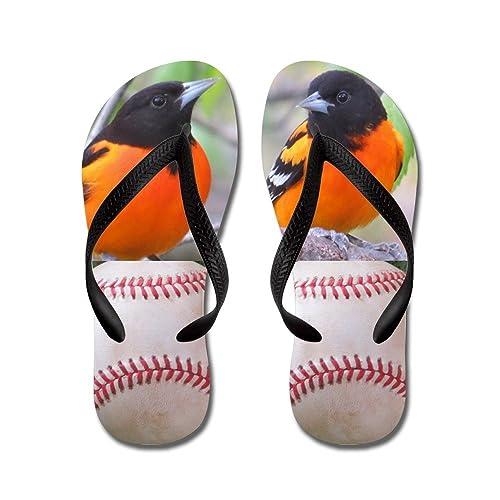 32d62caa809181 CafePress - Oriole Baseball - Flip Flops
