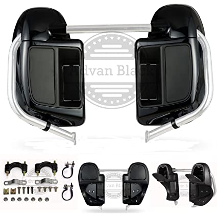 Unpainted Lower Vented Fairings Kit Glove Box for Harley Davidson Touring Street Glide Road King 2014