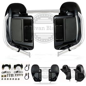 Advanblack Unpainted Lower Vented Fairings Kit Glove Box for Harley Davidson Touring Street Glide Road King