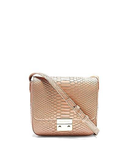64718402dd5 Armani Women's Crocodile Effect Shoulder Bag Powder One Size: Amazon ...