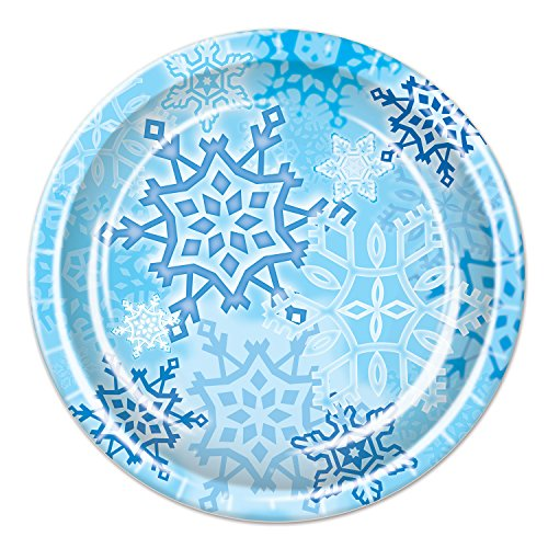 (Beistle Snowflake Plates, 9-Inch,)
