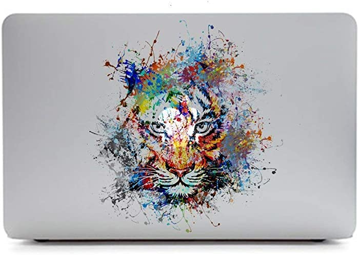 eDesign Removable Vinyl Decal Stickers Skin for Apple MacBooks or Any Other Laptops (Tiger)