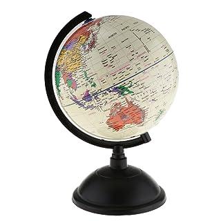 MagiDeal Globe Mappamondo World Globe Globo Decorazione Desktop Educazione Geografica Moderna - 20 cm Bianco