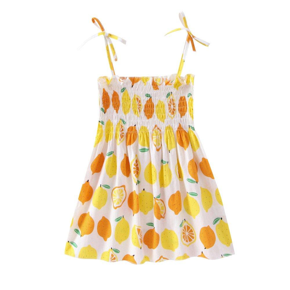 Baby Girls' It's My Birthday Print Shirt Tutu Skirt Dress Outfit Set Yellow by Karoleda_Baby Girls Clothes (Image #1)
