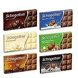 Schogetten German Chocolate Variety Pack (Bundle of 6)