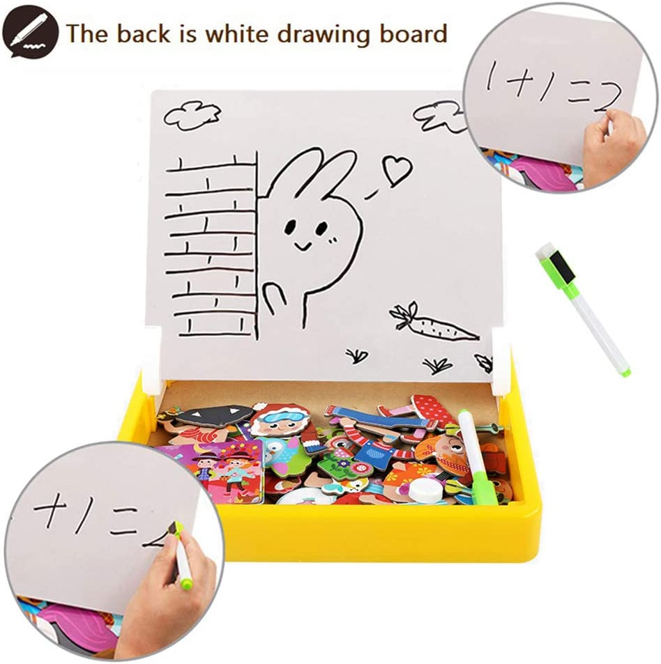 ZSFLZS Magnetic Matching Puzzles Drawing Board Game Preschool Educational Learning Toy for Kids Colorful Seasons