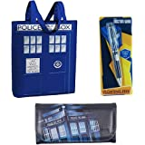 Doctor Who Tardis Themed Bundle with Tote, Wallet and Pen