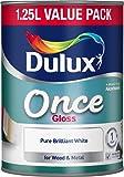 Dulux une fois Gloss Peinture, 1.25l–Pur Blanc brillant