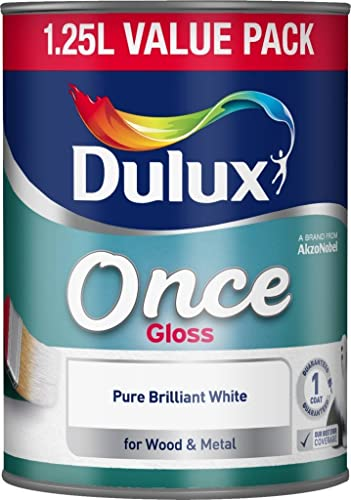 Dulux Once Gloss Paint, 1.25 L - Pure Brilliant White