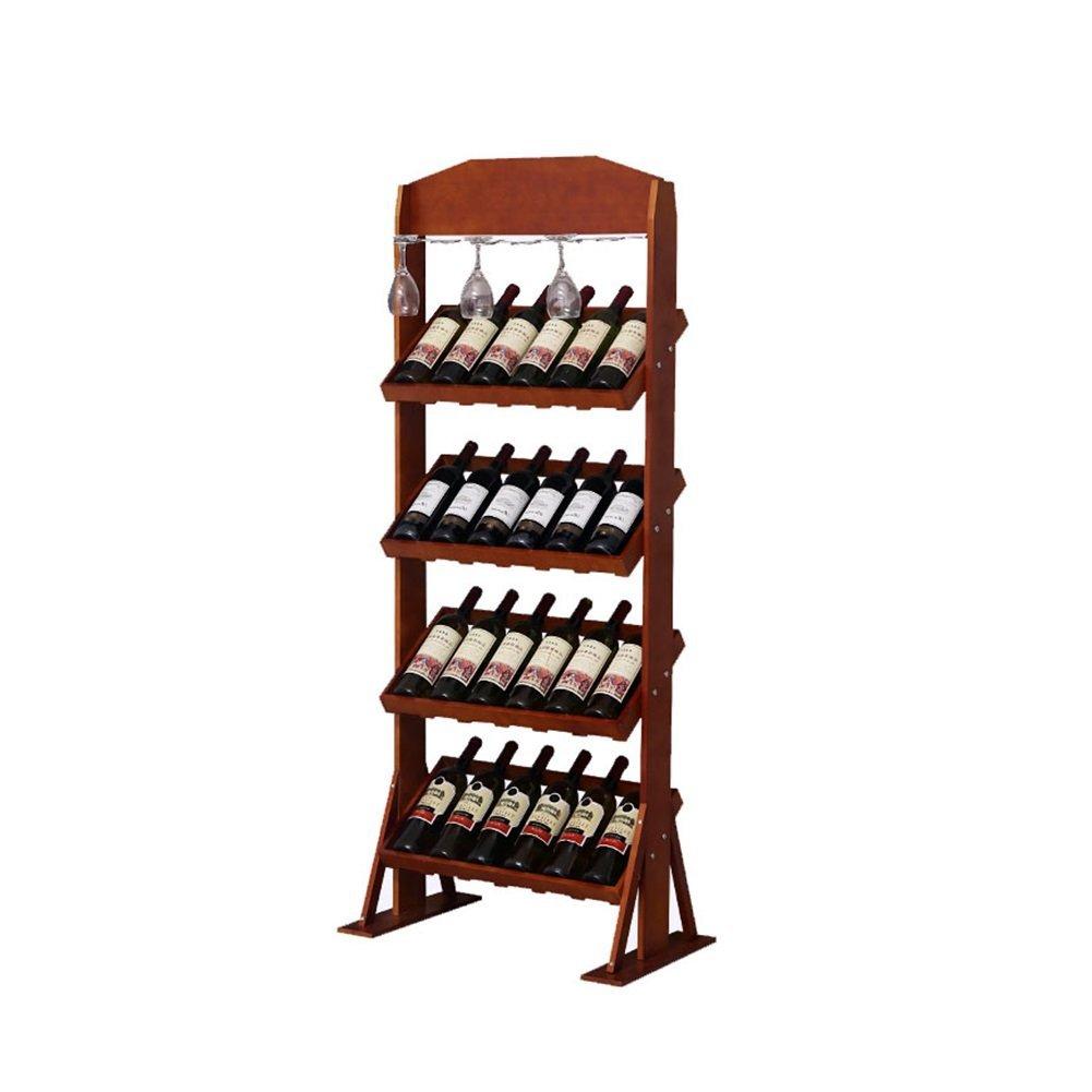 JUNZH Massivholz-Wein-Gestell-moderner Massivholz-Wein-Gestell-moderner Massivholz-Wein-Gestell-moderner Minimalist, Boden-Kabinett-Persönlichkeits-Ausgangs-Ausstellungsstand (Farbe   ROT) 919dba