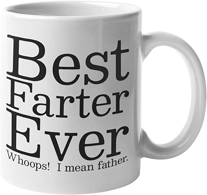 Best Father Farter World Printed Cup Ceramic Novelty Mug Funny Gift Coffee Tea