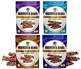 Cheap Undercover Quinoa Sampler Pack, Chocolate Crispy Quinoa Snack, Gluten-Free, 8 2 oz. bags: 2 Milk Chocolate, 2 Dark Chocolate+Sea Salt, 2 Milk Chocolate+Currants, 2 Dark Chocolate+Blueberries