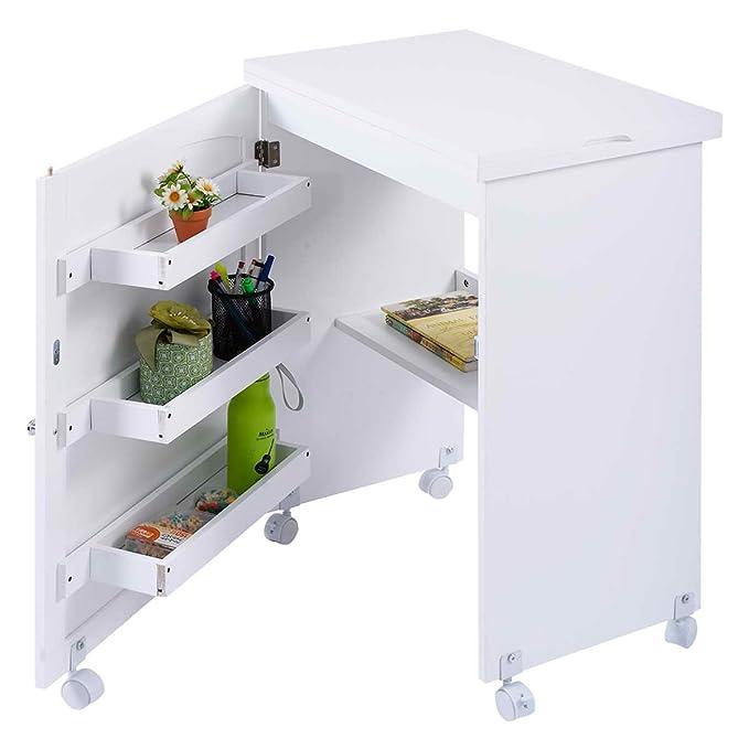 Table De La Machine A Coudre Pliable Armoire Machine A Coudre Table De Travail Blanc