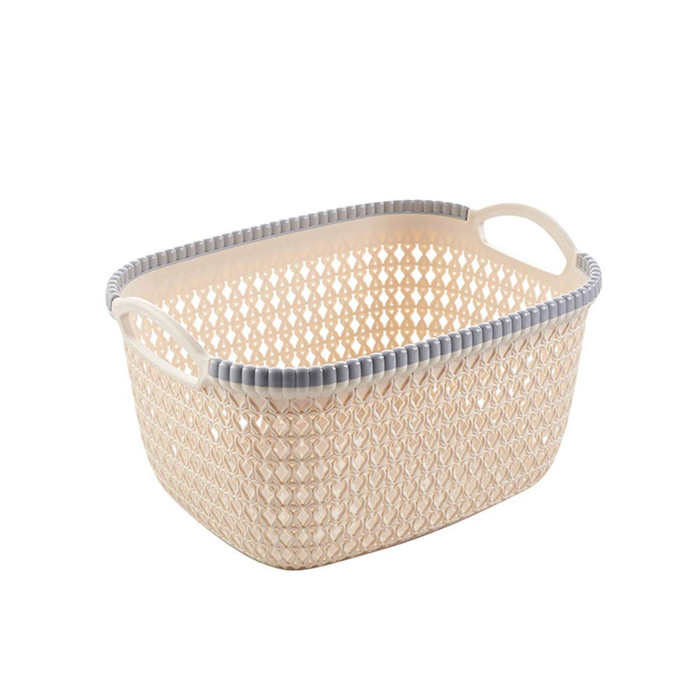 FarJing Storage Box Office Plastic Storage Basket Desktop Finishing Box Cosmetics Debris Case (Beige)