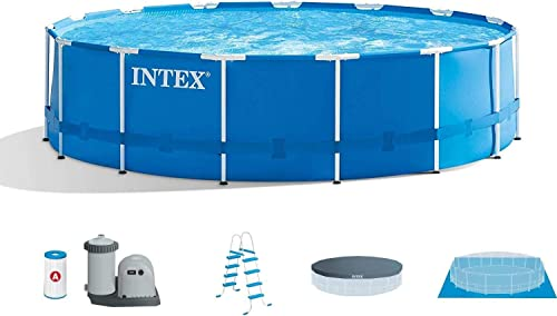 Intex 15 x48 Metal Frame Above-Ground Pool Maintenance Kit w Vacuum Pole