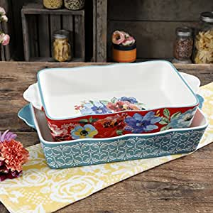 Amazon Com The Pioneer Woman Baking Dish Spring Bouquet 2