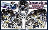 2013 EDMONTON OILERS Team Signed FULL SIZE Mask - COA# X81401 - JSA Certified - Autographed NHL Helmets and Masks