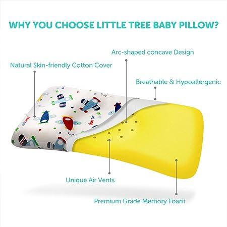 Almohada de Bebé, Almohada Ortopédica para Bebés Contra la ...