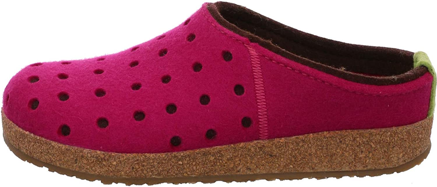 HAFLINGER Womens Wool Felt GZ Clog Grizzly Holly, Pink