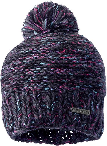 Screamer Women's Venezia Knit Beanie, Black Tweed, One Size (Knit Tweed)